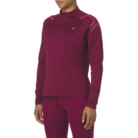 asics Icon Winter LS 1/2 Zip Top Women Cordovan/Samba
